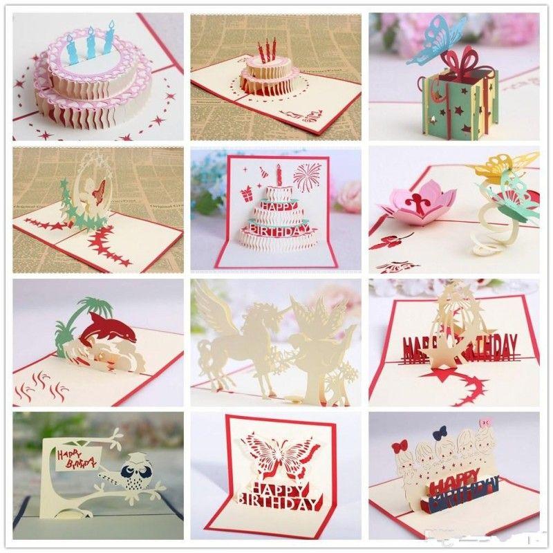Compre 3D Pop Up Cartões Valentine Lover Feliz Aniversário