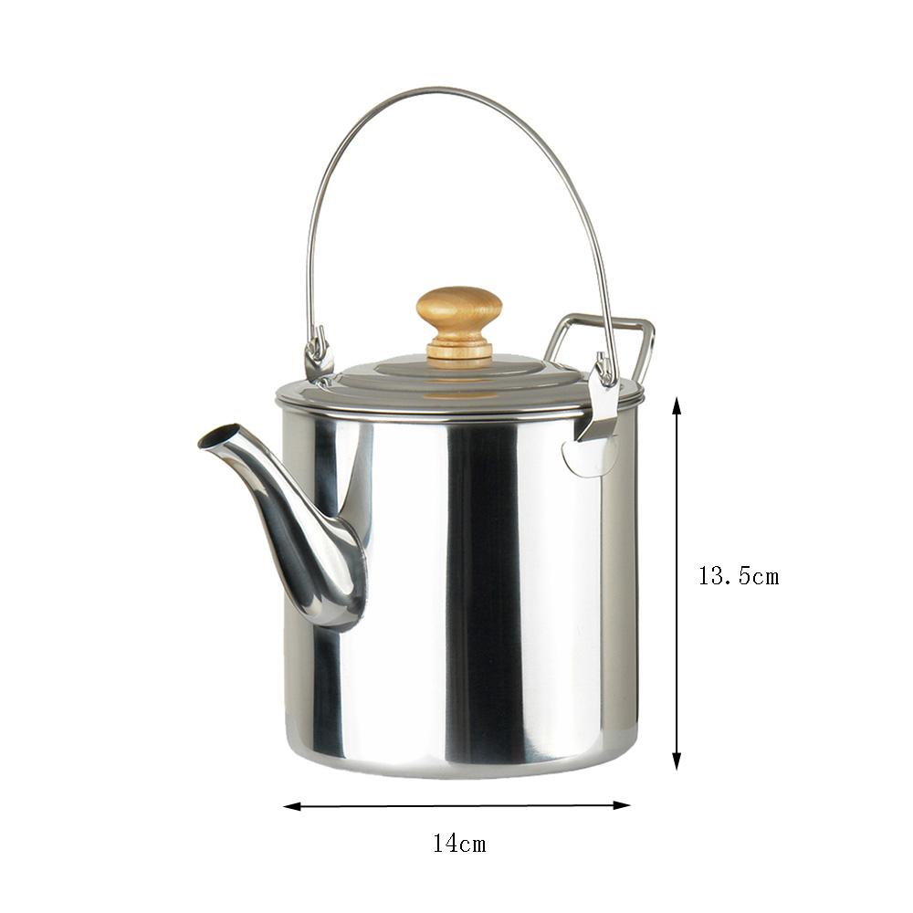 Manly Outdoor Hiking Camping Water Kettle Teapot Coffee Pot Stainlesssteel Potable Water Stove Tea Kettles Outdoor Hiking Camping Water Kettle Teapot Coffee Pot curbed Camping Coffee Percolator