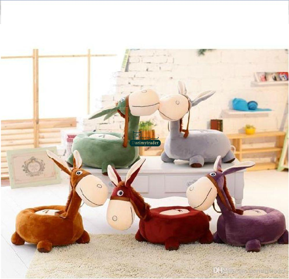 Big Sofa Fawn Dorimytrader 80cm X 45cm X 50cm Big Plush Soft Stuffed Lovely Giant Animal Donkey Sofa Tatami For Baby 5 Colors Free Shipping Dy60512