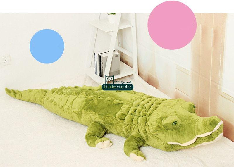 Dorimytrader 753939 190cm Jumbo Animal Alligator Stuffed