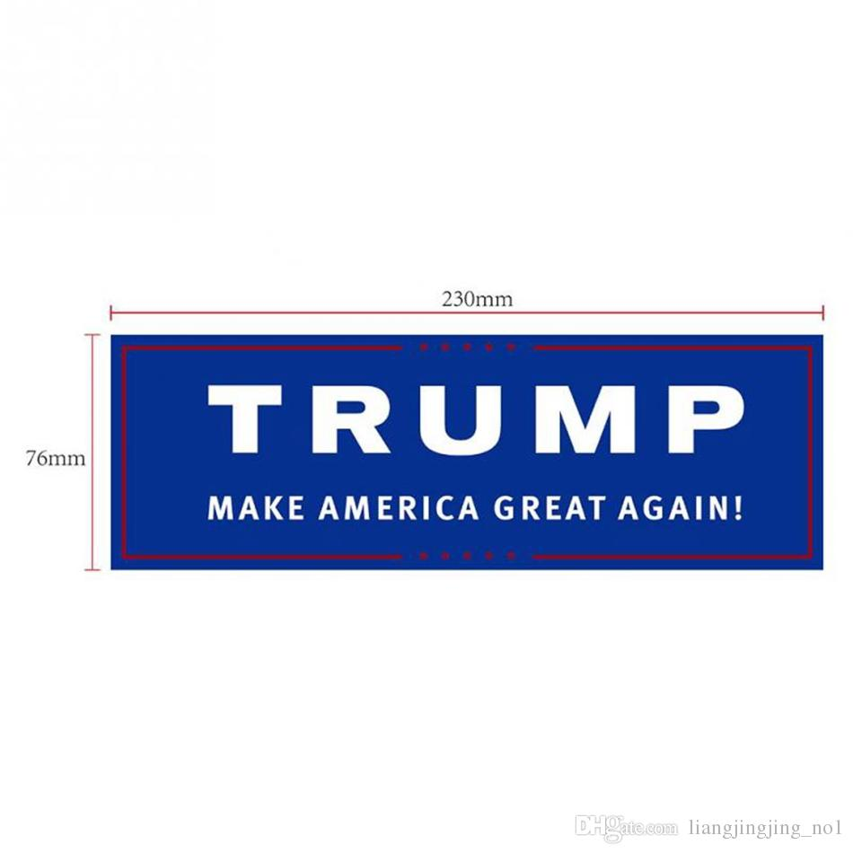 Trump Bumper Sticker Blue Us Presidential Election Trump Bumper Car Stickers 23 7 6cm Car Bumper Stickers With Lettering Donald Trump President Stickers Ooa3551