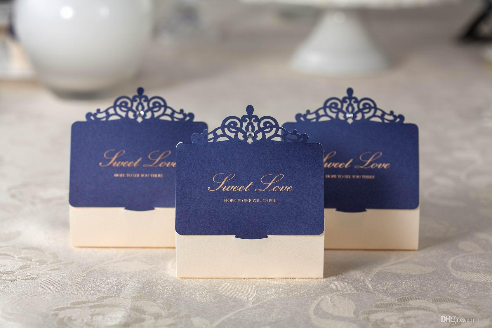 Cheap White Card Wedding Favors Boxes Gift Boxes Candy Box Blue Party Favor