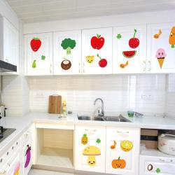 Picture Cartoon Fruits Wall Art Mural Decor Kitchen Wall Decorationsticker Pvc Removable Waterproof Colorful Fruits Cartoon Fruits Wall Art Mural Decor Kitchen Wall Decoration