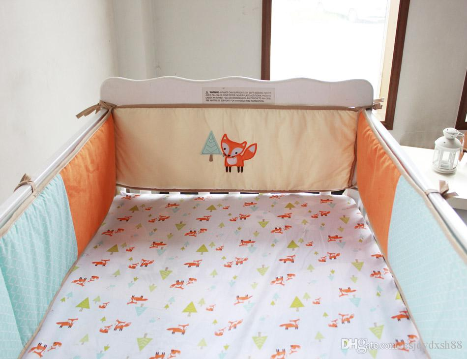Embroidery 3d Prairie Fox Baby Bedding Set 100 Cotton