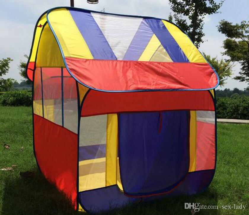 Children Play Tent Folding Tents Toddlers And Kids Four Corner House
