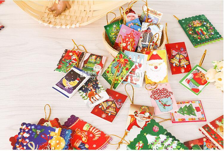 Christmas Cards Printed Xmas Ornaments Wishing Card 65x55cm Sweet