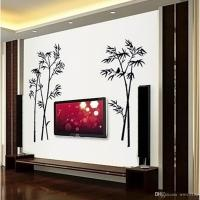 Bamboo Wall Stickers Living Room Bedroom Background Wall ...