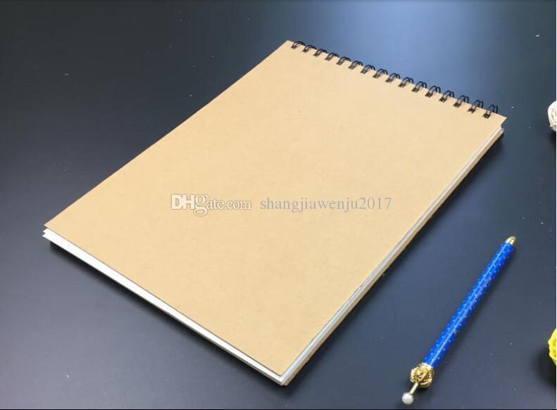 Blank Diary Page a4 blank page flip spiral notebook retro hard - blank diary page