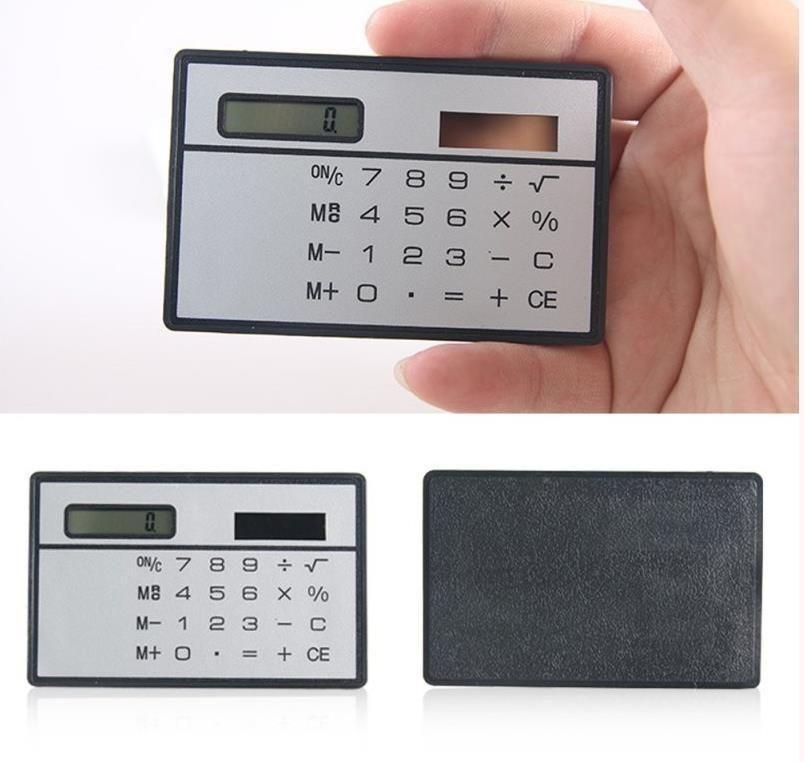 2018 Solar Card Calculator Mini Calculator Solar Powered Counter