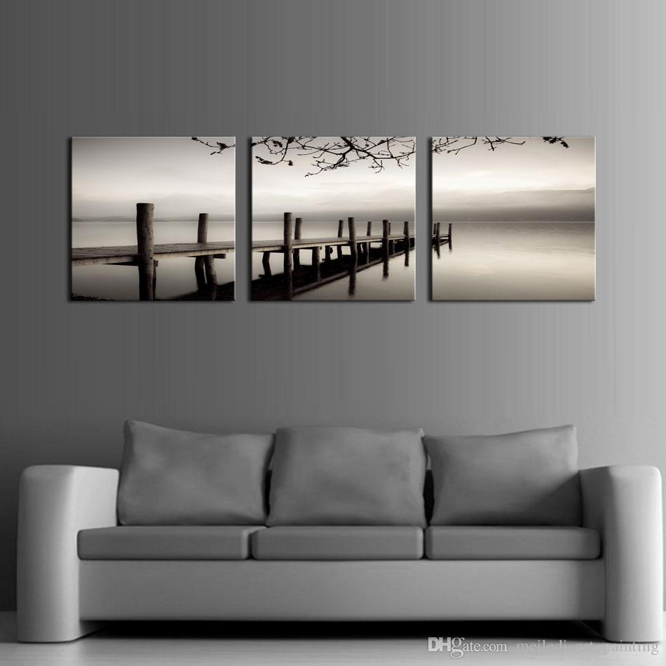 Black And White Artwork For Bedroom 3 Panels Black And White Landscape Giclee Canvas Prints On Canvas Wall Art Modern Pictures Paintings Artwork For Living Room Bedroom