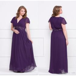 Small Crop Of Plus Size Purple Dress