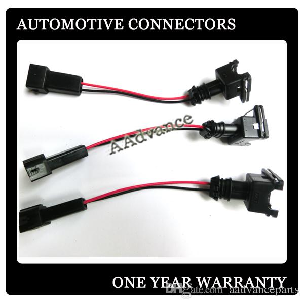 OBD2 To OBD1 EV1 Fuel Injector Wiring Harness Connector Plug Used