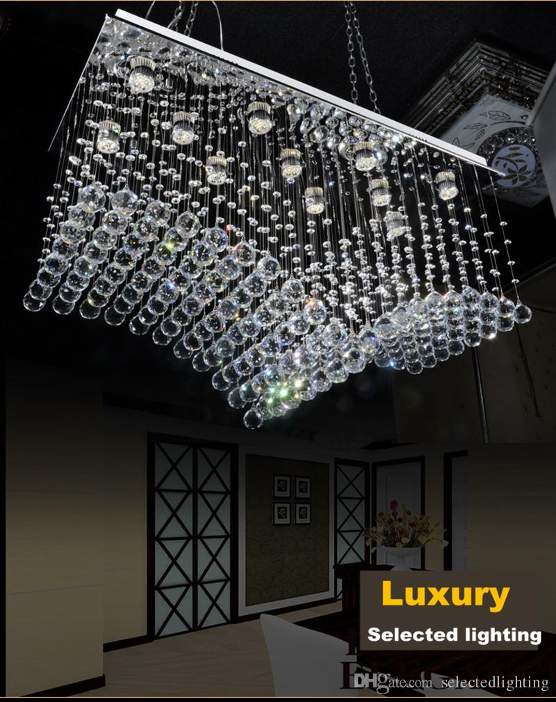 Lüster Modern Luster Crystal Chandeliers Lighting Fitting Double Staircase Led Pendant Lamp For Foyer Dining Room Restaurant Decoration