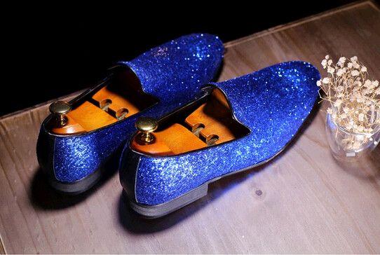 Men Fashion Shiny Glitter Casual Shoes Hot Design Men