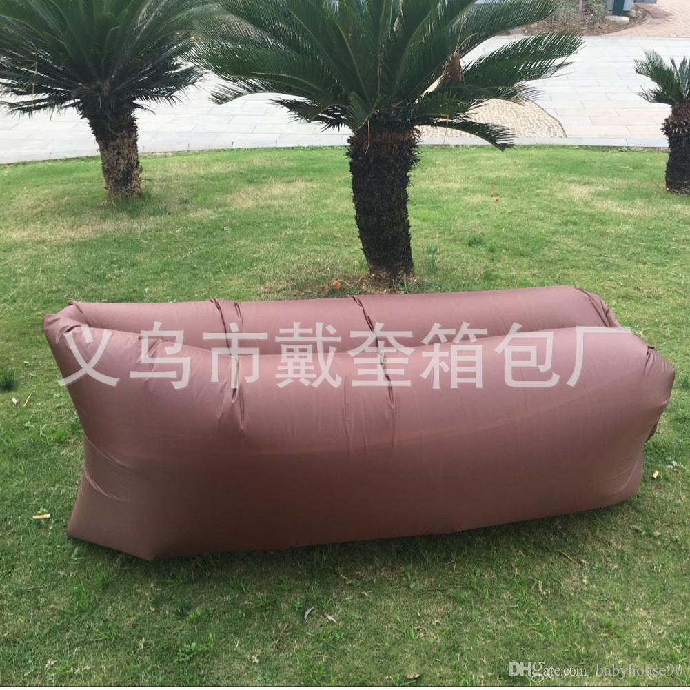 Air Sofa ár 210d Laybag Inflatable Air Sleeping Bag Beach Bags Chair Inflate Pad Hangout Lounger Sofa Bed For Traveling Camping Hammock 20pt Ar