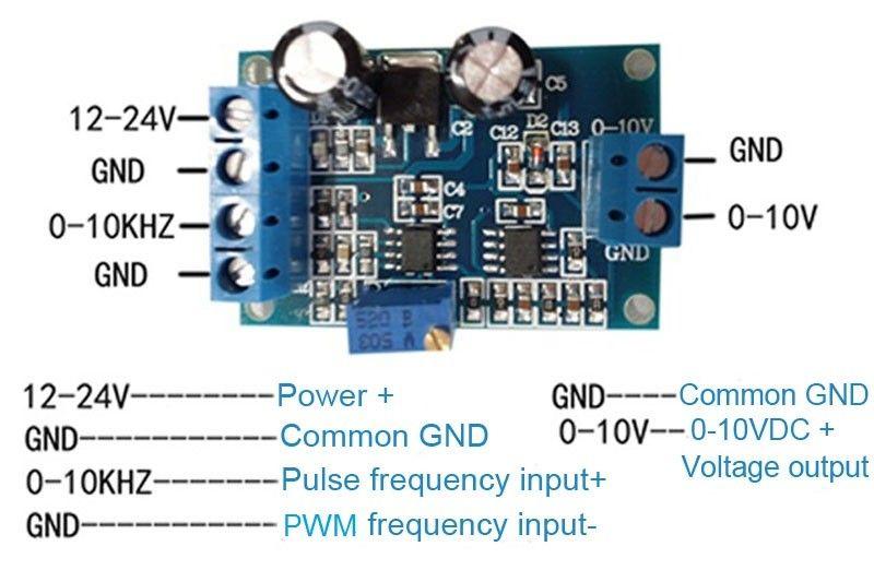 2019 PMW To Voltage Signal Converter 0 10kHZ PWM To 0 5V 0 10V