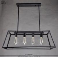 Loft Pendant Lamp Retro American Industrial Black Iron ...