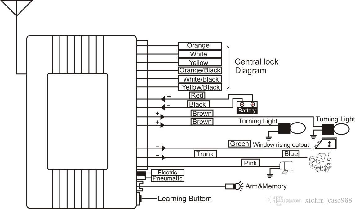 Car Central Lock Diagram Better Wiring Diagram Online