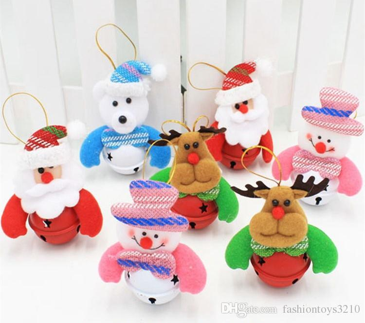 2018 Newest Christmas Tree Plush Toys With Bell Doll Santa Claus - christmas toy sales