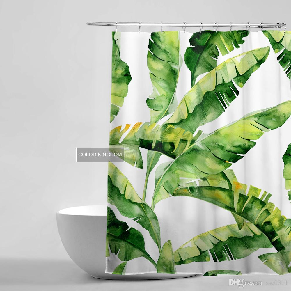 Banana Leaf Shower Curtain Seoproductname