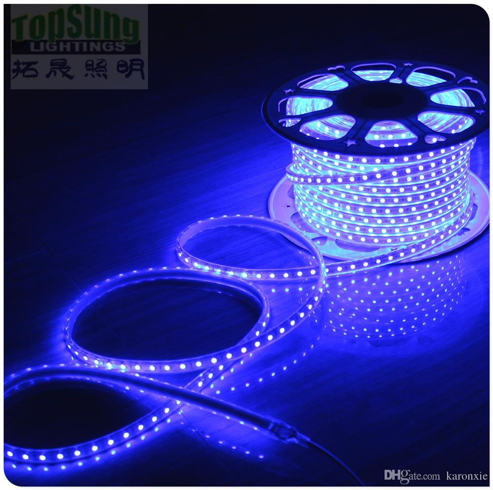 Rgb Led Strip 230v 50m Roll Flexible Led Strip Light 5050 220v 230v Ac Strips Waterproof Multicolor Wholesale Red Yellow Blue Green White Pink