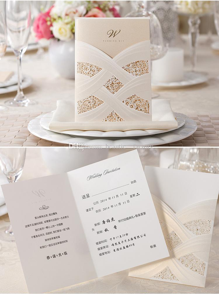 Wedding Invitations Cards With Envelopes Seals White Or Red Pattern