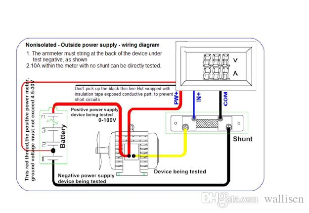 DC0 100V/50A Digital Voltmeter Ammeter Voltage Amperage Two In One