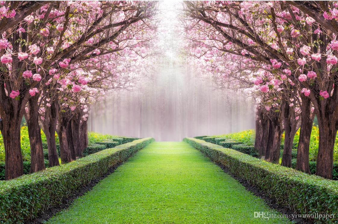 Feature Wall Wallpaper 3d Luxury European Modern Beautiful Scenery Flowers And Trees