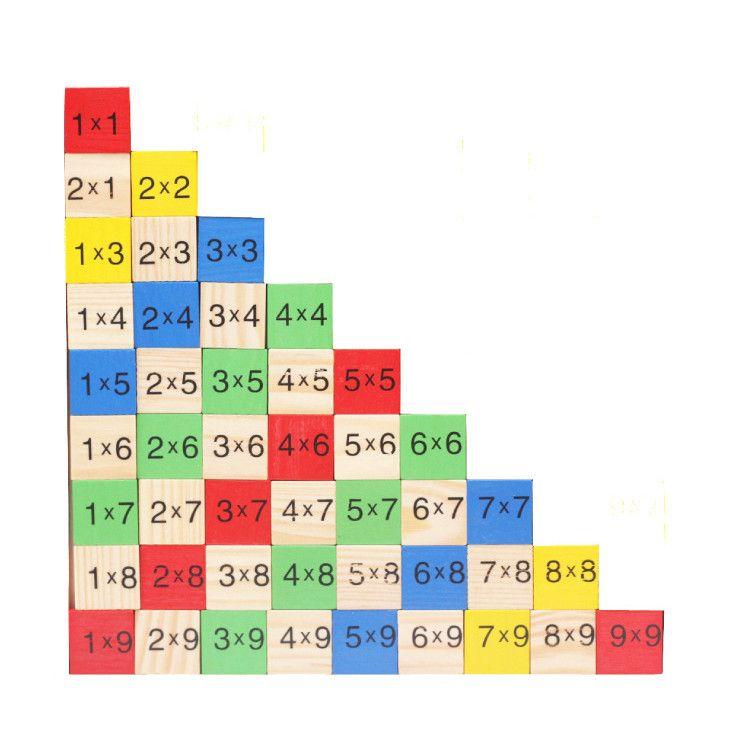 2018 Wooden Digital Board Multiplication Table Educational Math Toys - multiplication table