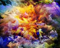Colorful Galaxy Wallpaper Custom 3D Wallpaper Charming Ink ...