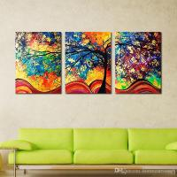 Unframe Wall Art Colourful Trees Canvas Painting Wall Art ...