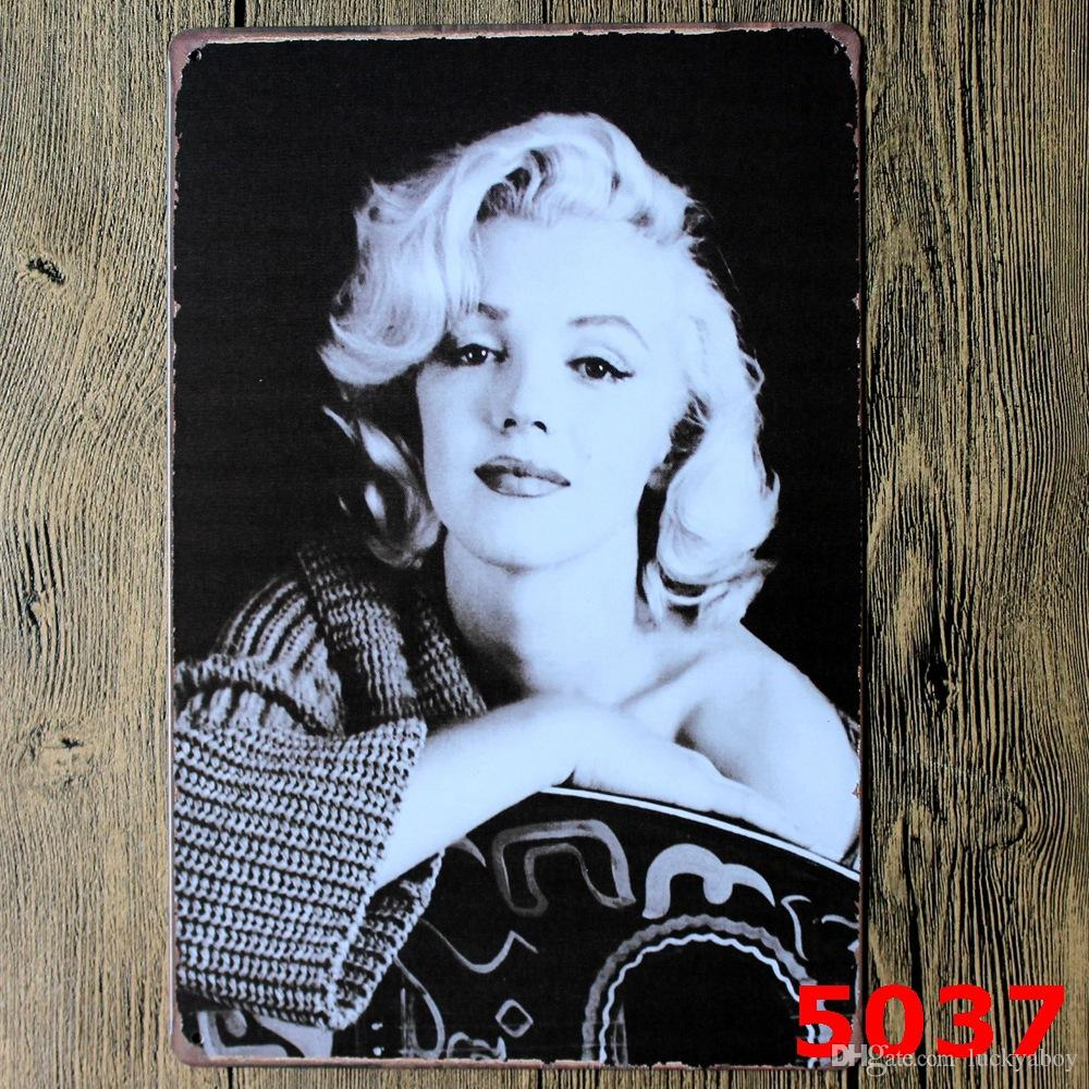 Marilyn Monroe Poster Marilyn Monroe Poster Wall Decor Bar Home Vintage Craft Gift Art 12x8in Iron Painting Tin Poster 30x20cm Mixed Designs
