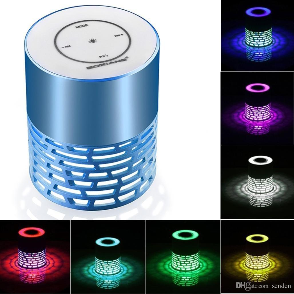 Lampe Mit Lautsprecher Tragbare Led Lampe Bluetooth Lautsprecher Q5 Touch Ton Multi Color Beleuchtung Subwoofer Mit Mic Telefon Aux In Tf Karte Mp3 Stereo Musik Licht Player