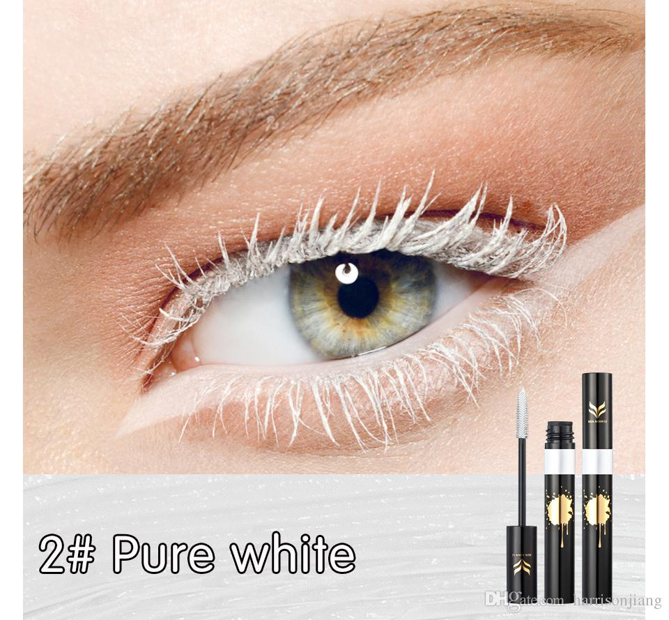 Bunte Mascara Huamianli Shining Colorful Mascara Luxury Waterproof Professional Nonglooming Colour Mascaras Fashion Cosmetic Colored Lashes Cosplay Makeup