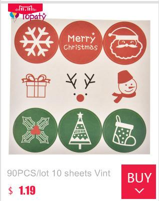 10sheets Merry Christmas Gift Stickers Christmas Party Favor Baking