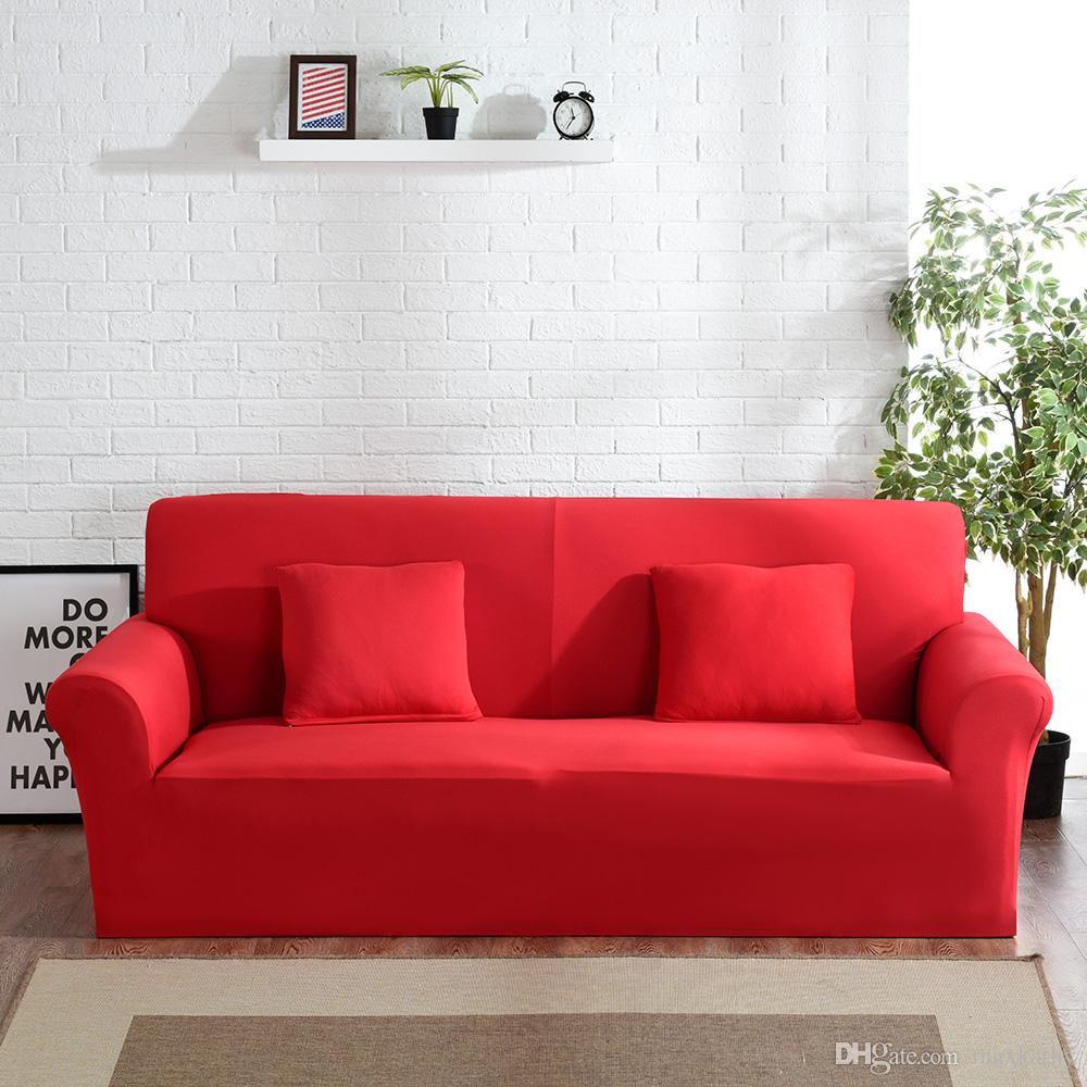 Sofa Slipcovers Maxkathy Stretch Couch Covers Sofa Slipcovers Fitted Loveseat Cover Seat Furniture Protector Factory Wholesale Price Bright Red