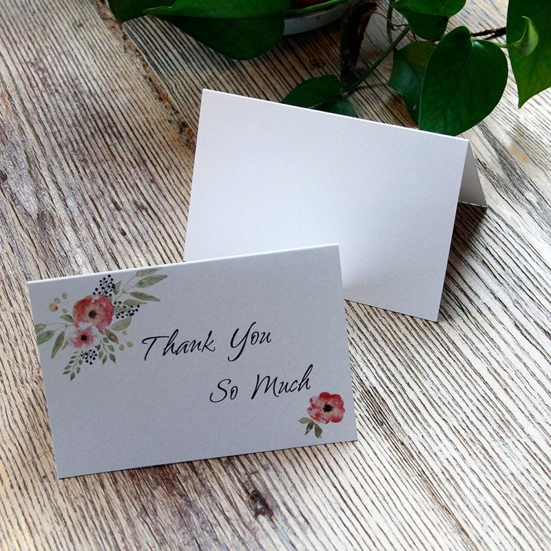 Thank You Card Baby Shower Wedding Graduation Greeting Card To