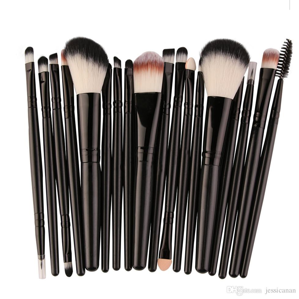 Pinsel Set 18 Stücke Gesicht Make Up Pinsel Set Foundation Powder Blush Contour Concealer Lidschatten Lippen Augen Blending Kosmetik Pinsel Kits