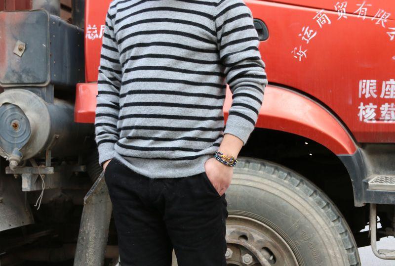 Luxury Designer Anchor Bracelet 4 Size Triple Thread Rope Mens