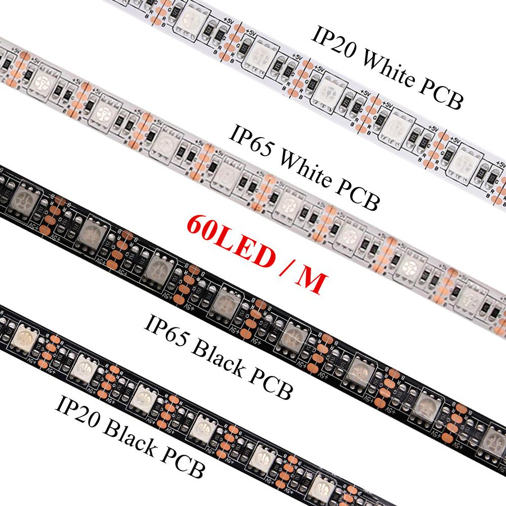 Led Strip Waterproof Beilai 5050 Dc 5v Rgb Led Strip Waterproof 60led M Usb Led Light Strips Flexible Neon Tape 1m 2m 3m Add Remote For Tv Background