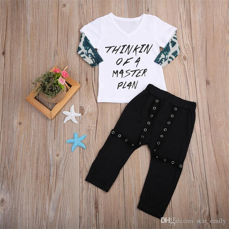 2018 HOT Ins Baby Boy Clothes Outfits Cool 2018 Letters Master Plan