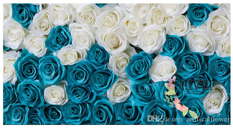 Wedding Background Flower Blue And White Rose Backdrops For Romantic