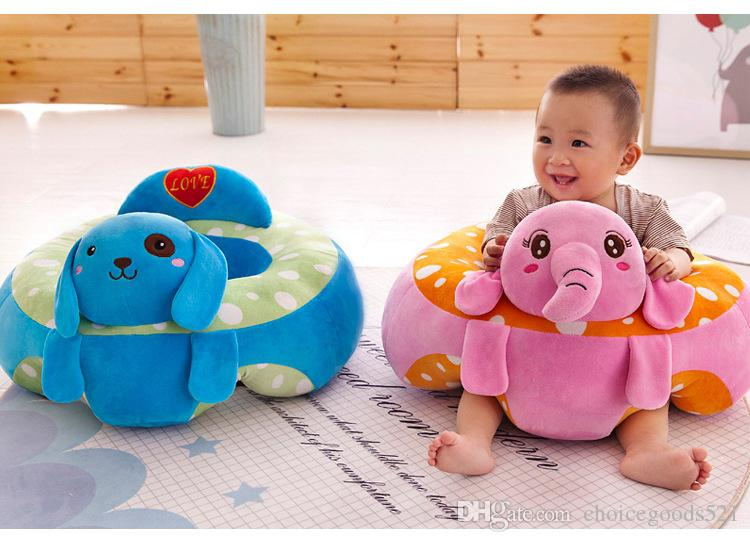 2019 Cartoon Animal Baby Support Seat Sofa Baby Learning