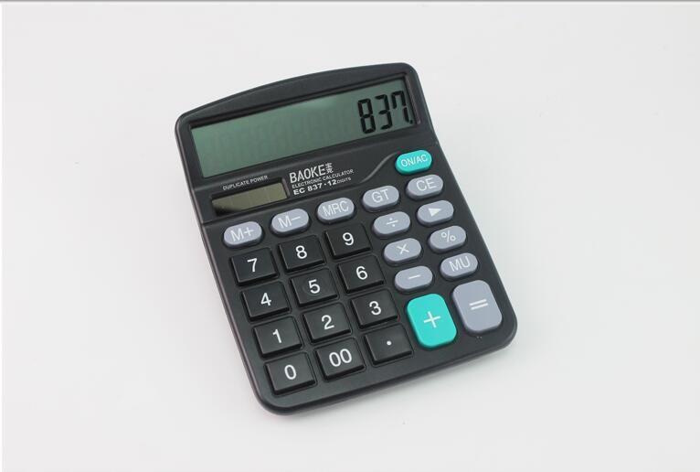 2018 837 Office Stationery Bao Gram Big Screen Type Solar Calculator