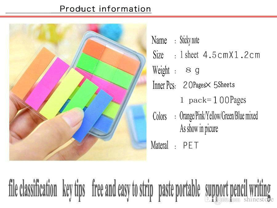 2018 1200 Pages Cute Candy Colorful Post It Sticker Bookmark Tab - bookmark size