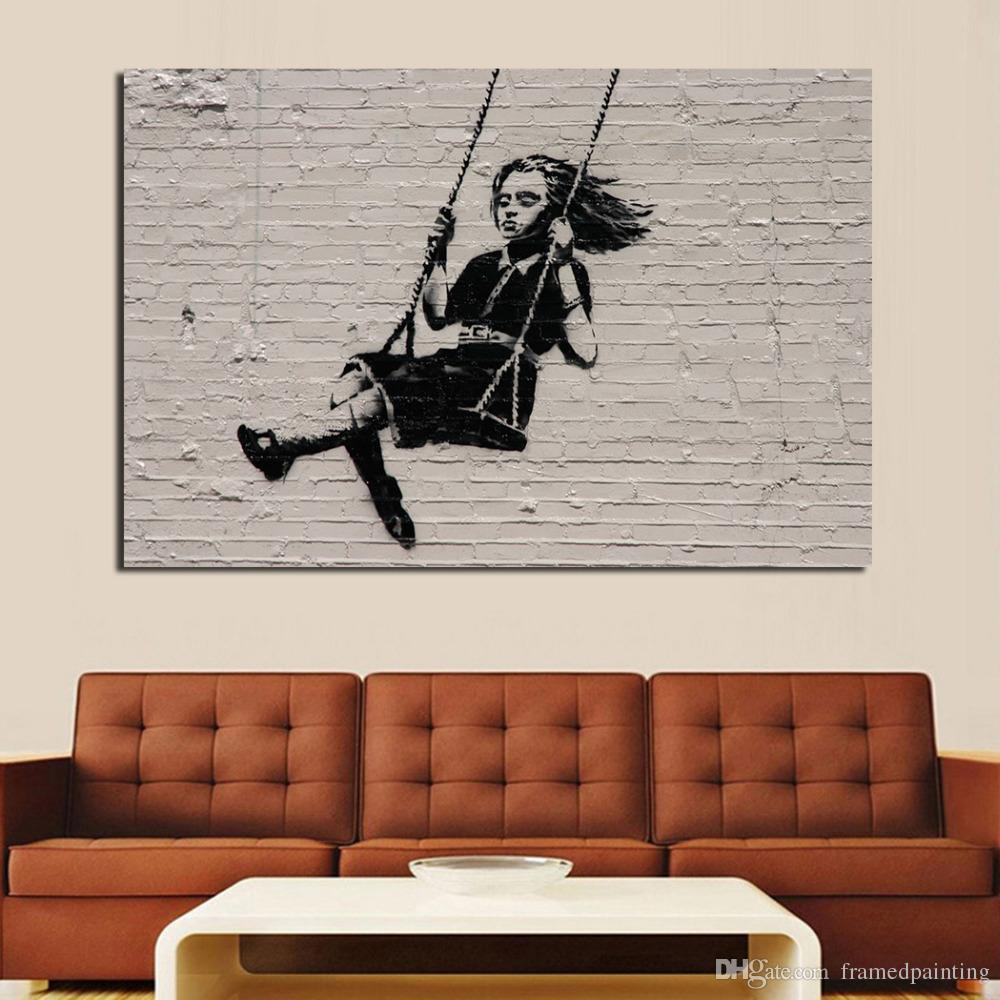 Living Room Paintings Oil Painting Wall Painting Living Room Paintings On Canvas Banksy Street Art Modern No Frame Picture