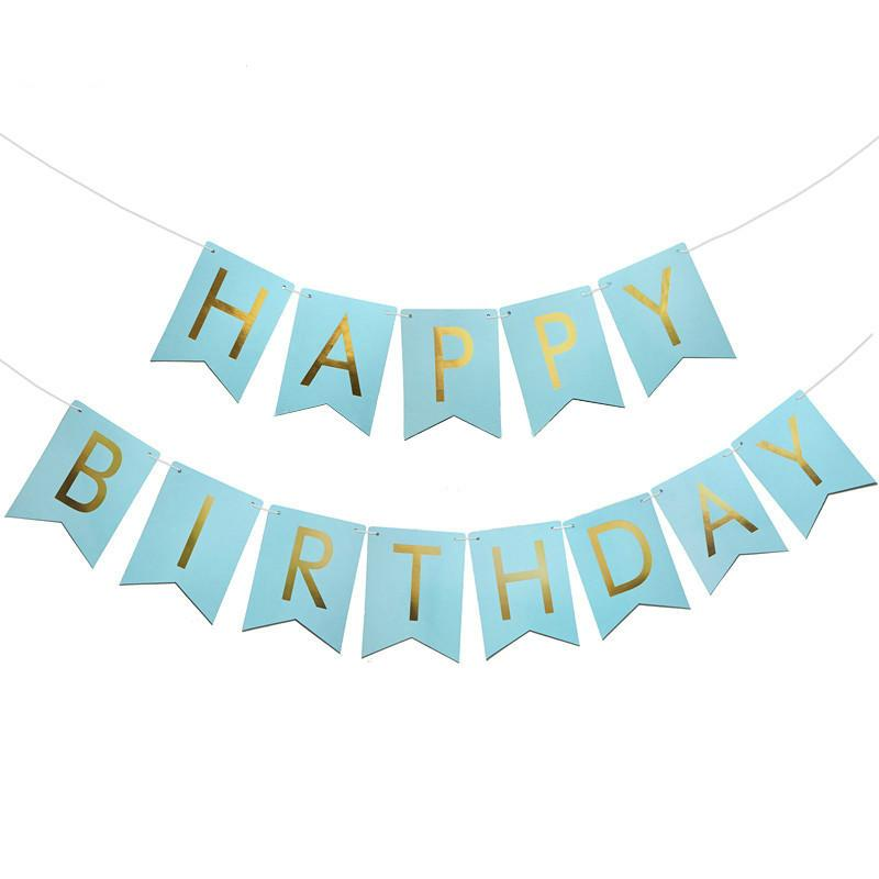 Glitter Happy Birthday Letter Bunting Banner Gold Letters Hanging