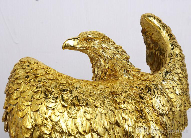 2018 Exhibition grand eagle ornaments office Feng Shui jewelry creative  crafts opened home decorations free shipping