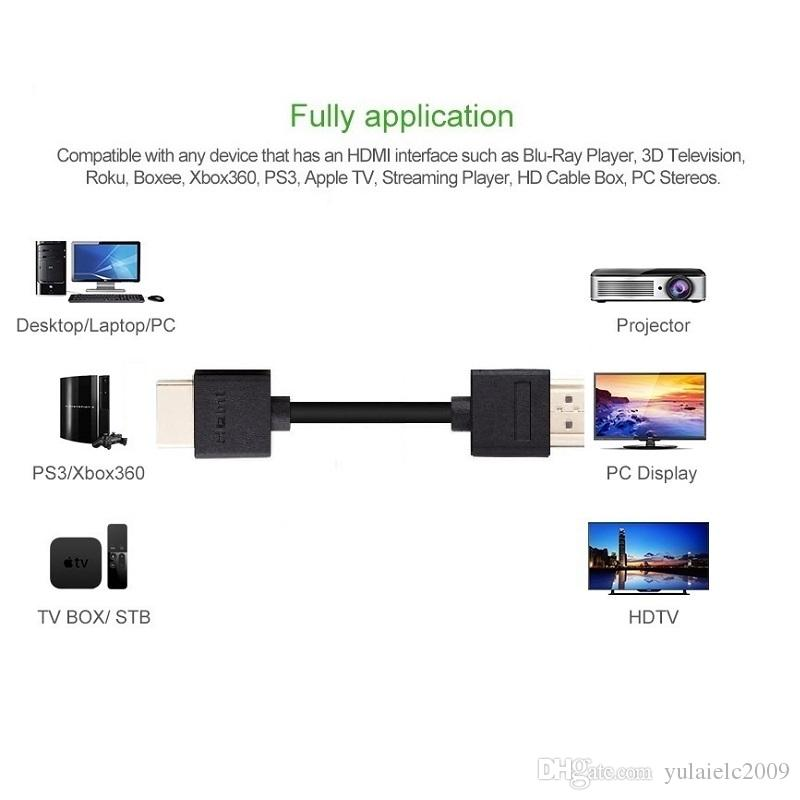 Slim HDMI Cable 05m With Ethernet 14 For HD TV\u0027S Xbox 360 / PS3