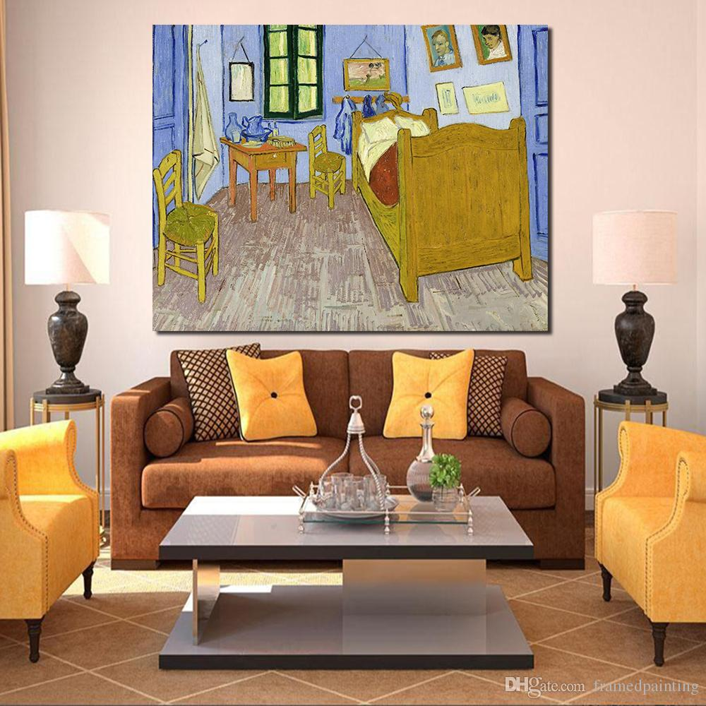 Vincents Schlafzimmer In Arles Artists Vincent Van Gogh Bedroom In Arles Canvas Art Print Painting Poster Wall Picture For Home Decor No Frame